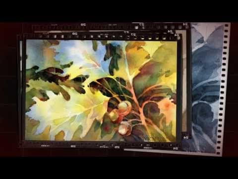 Brenda Swenson on Negative Painting: Leaves - YouTube