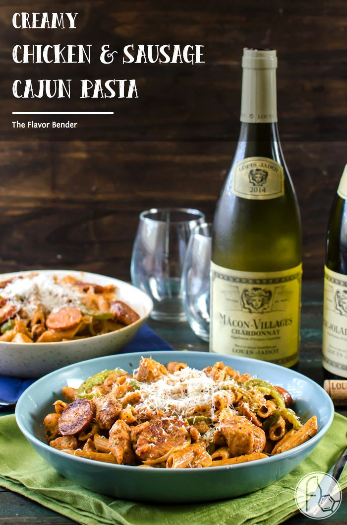 Creamy Chicken and Sausage Cajun Pasta - a spicy, herby, peppery and unabashedly flavourful, easy weeknight or weekend dinner that your…