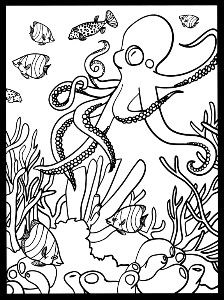 From Coral Reef Stained Glass Coloring Book