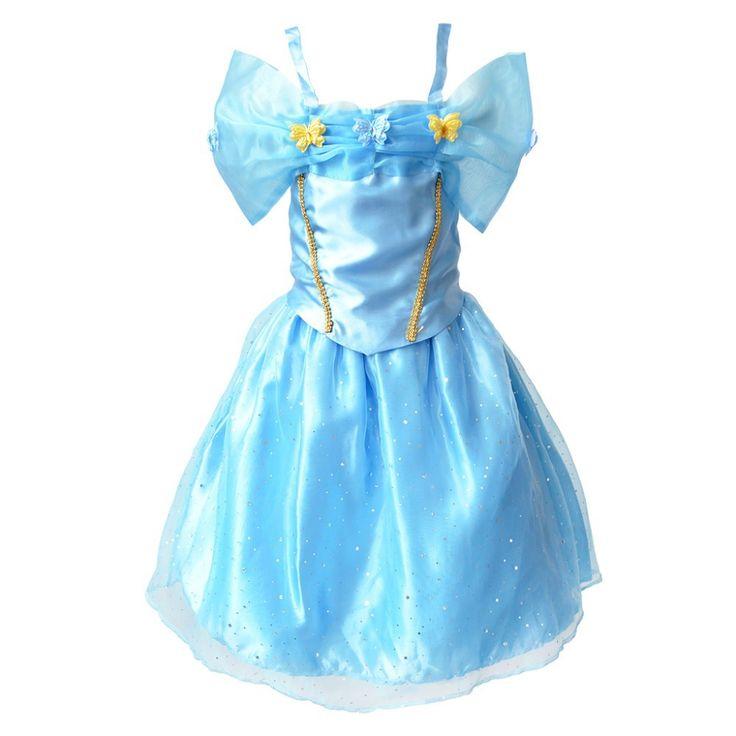 2016 New Cinderella Girls Chidlren Princess Costume Kids Girls Party Dress Baby Vestidos #Affiliate