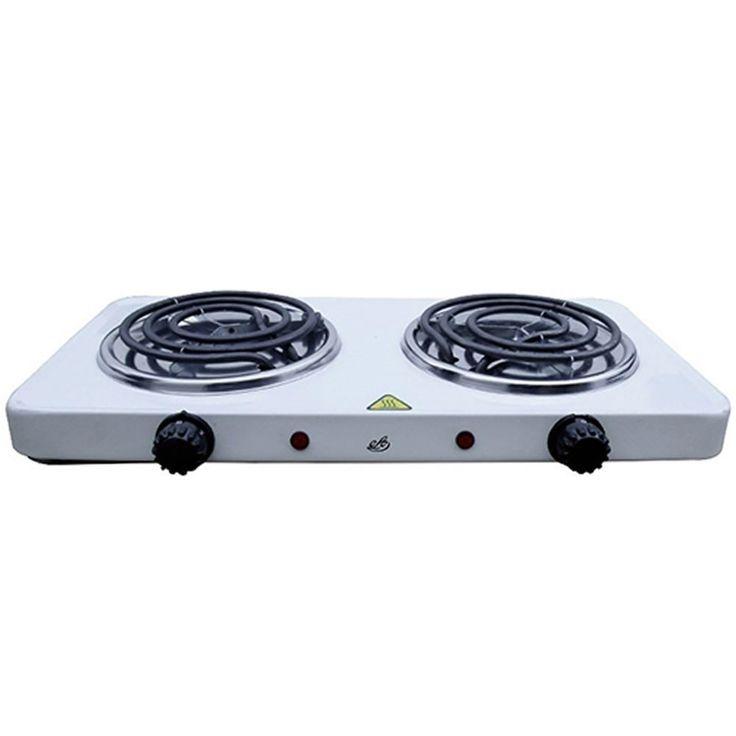 Fogao Eletrico Com 2 Bocas Fogareiro Portatil 500° Em Aço Para Cozinha Alimentacao (Fe-302)
