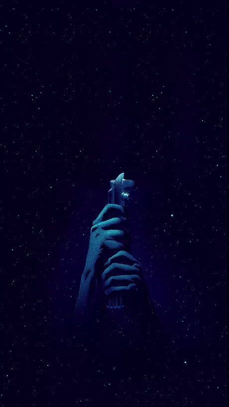 Star Wars live wallpaper iphone light saber blue