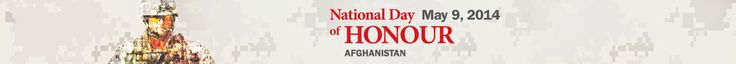 Lesson plan on Canada's involvement - May 9, 2014, National Day of Honour, Afghanistan