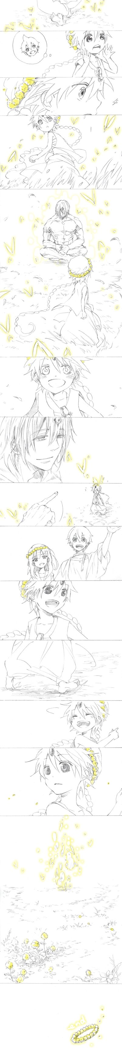 Magi - Aladdin, Morgiana, Alibaba and Ugo. RIGHT IN THE FEEEEEEELLLSSS TT.TT