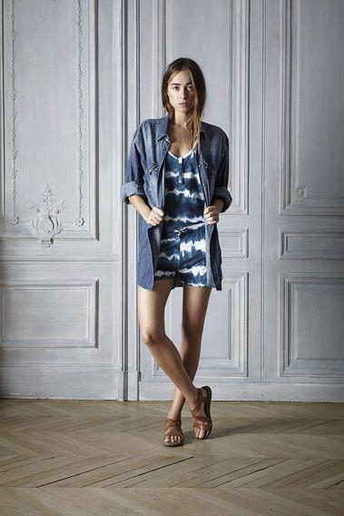 #summer #style #denim #outfit #blue #shirt  #dress #linen #jersey #batikprint #beautiful #fashion #womenswear