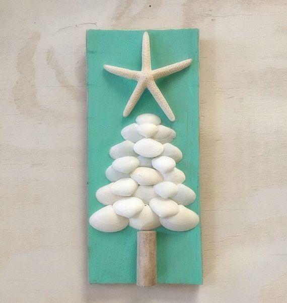 Wood Christmas Decor Christmas Tree. Coastal Christmas by SableSol