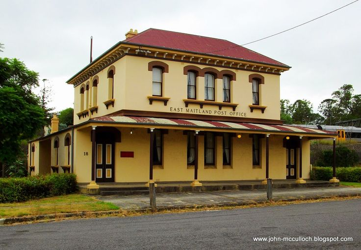 Old East Maitland Post Office in Day Street., East Maitland, NSW. v@e.