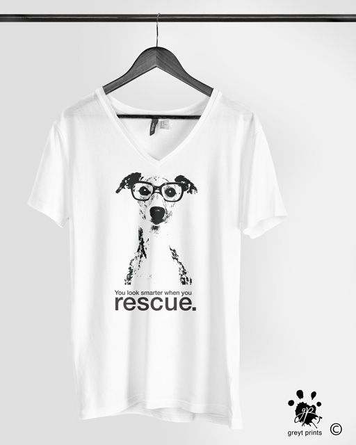 pet rescue t-shirt, greyhound shirt, greytprints.com #greyhound