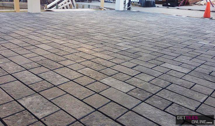 Bluestone Flamed Brick pattern 306x312 (Code:00504) - Get Tiles Online