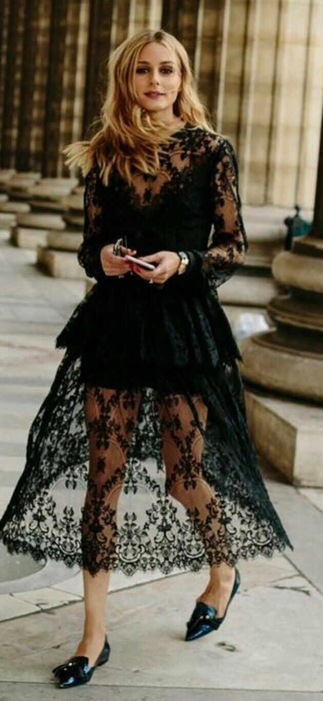 Olivia Palermo Black houture couture tulle dress my balerina shoes