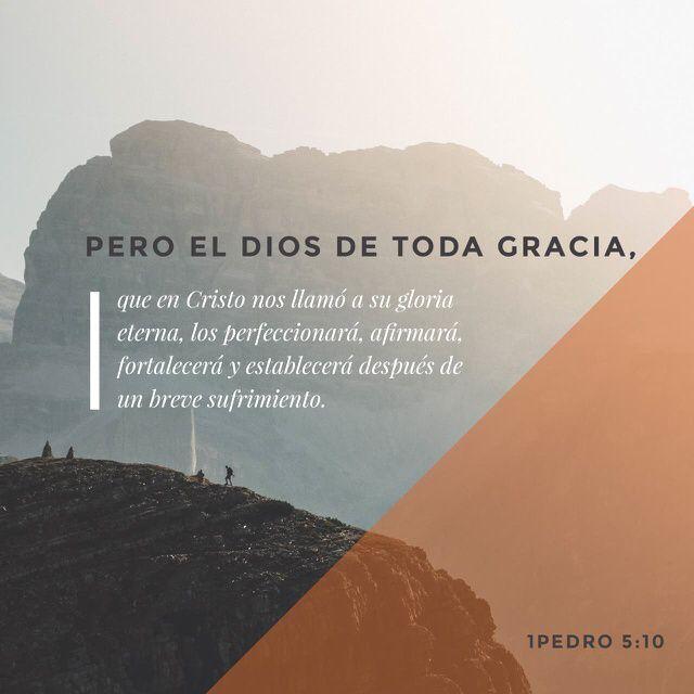 Kaiken armon Jumala on kutsunut teidät iankaikkiseen kirkkauteensa Kristuksessa Jeesuksessa. Vähän aikaa kärsittyänne hän on teidät valmistava, teitä tukeva, vahvistava ja lujittava. 1. Pietari 5:10 FINRK