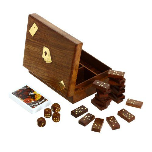 ShalinIndia, Wooden Domino Dice and Playing Cards, 3 in 1 Box, 6.75 inch ShalinIndia http://www.amazon.com/dp/B00FOH400K/ref=cm_sw_r_pi_dp_9vKJvb0B3YVE1