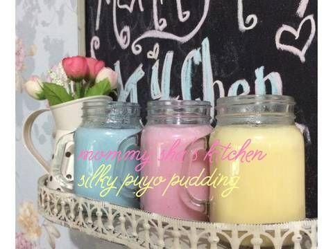 Resep Silky puyo pudding NCC favorit. alhamdulillah senangnya ketemu resep ini di cookpadnya mba @kheyla's kitchen ga usah beli puyo lagi deh klo lg pengen.. bahan2nya jg simple koq