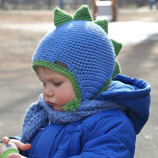 58 отметок «Нравится», 8 комментариев — @aljushinka в Instagram: «Настоящий, хоть и маленький динозавр  #вяжутнетолькобабушки  #knittingforkids #шапка #вязаниедетям…»