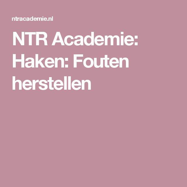 NTR Academie: Haken: Fouten herstellen
