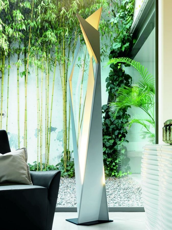 Thriller Cattelan Italia  This floor lamp - the technical project of the designer Andrea Lucatello is made of white or grey steel, that satisfies modern tastes and requests. In addition to its lamp functionality, Thriller would also be an important décor accessory.  http://www.martinelstore.com/en/prod/accessories/lighting/thriller-cattelan-italia.html