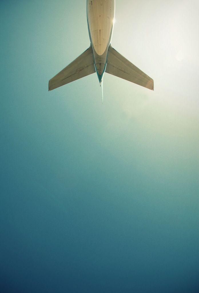 / \: Blue Sky, Far Away, Airplane, Jet Sets, Jet Planes, Bye Bye, Travel, Photo, Flying Away