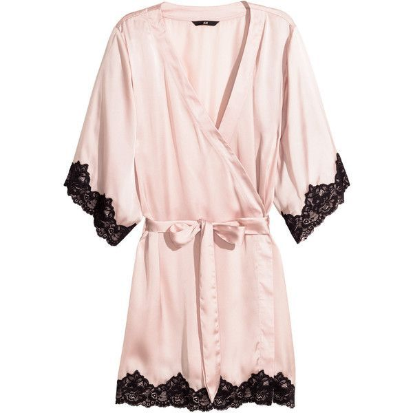 H&M Satin kimono ($29) ❤ liked on Polyvore featuring intimates, robes…