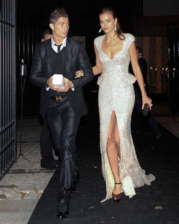 Rare Photos of Cristiano Ronaldo:     2011:   Cristiano Ronaldo and Irina Shayk attend the Marie Claire Prix de la Mode gala at the French Ambassador's Residence in Madrid.