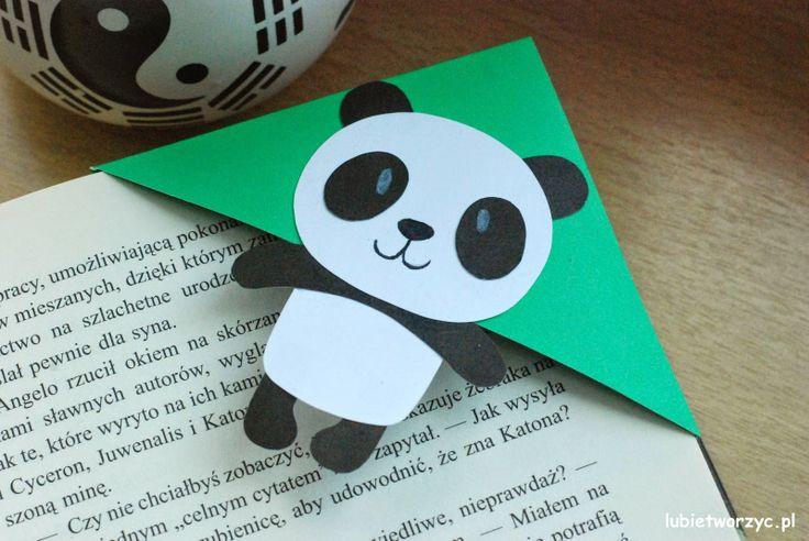Zakładka do książki z pandą w roli głównej :) :)  #panda #zakladka #zakładkadoksiążki #lubietworzyc #DIY #handmade #papercraft #instrukcja #jakzrobic #sposobwykonania #bookmark  #book