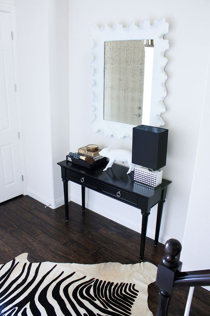 Bedroom with lamp white wall mirror ramos solid wood dining table - The Las Vegas Home Of Madebygirl S Jen Ramos