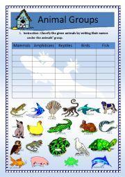 animal categories | ... animals > Animal classification > Science: Animals Classification