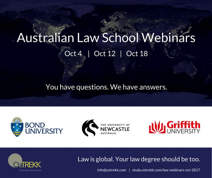 We know you can't always attend an in-person seminar, so we're bringing an Australian law school alum, a current student, and an Australian law school faculty member to you! Be sure to RSVP!