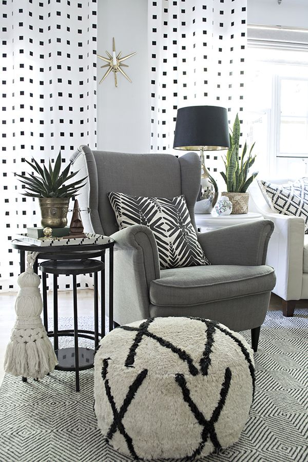 Best 25 black and white living room decor ideas on for Quirky living room ideas