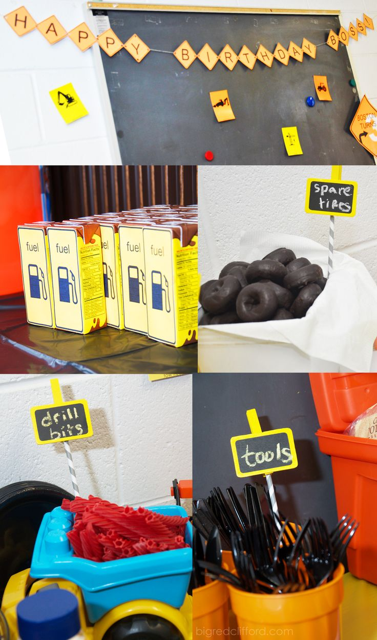 construction party food sign banner printable chalkboard