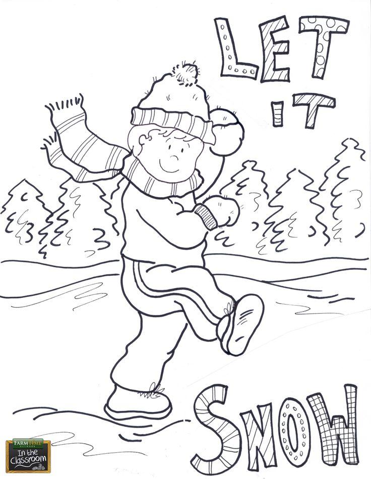 Let It Snow Coloring Pages