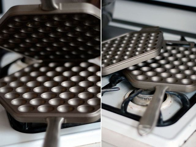 Nordic Ware egg waffle pan, $50 at williams sonoma.  A recipe for takoyaki waffle is sure to follow.