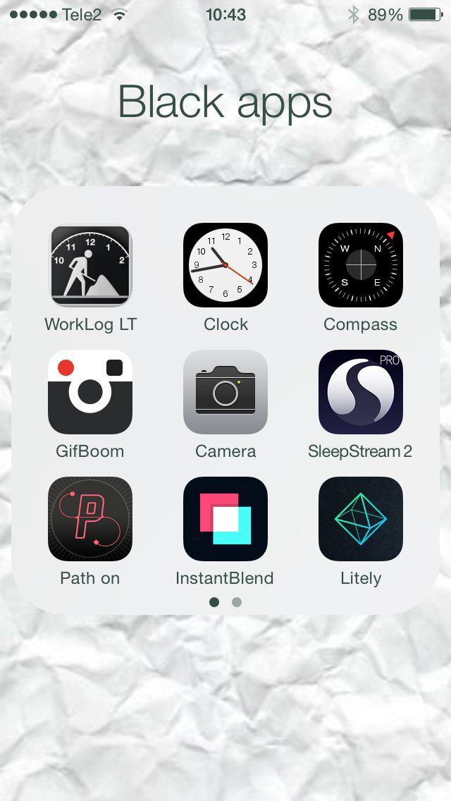 iPhone app ordering. #graphic #nerd