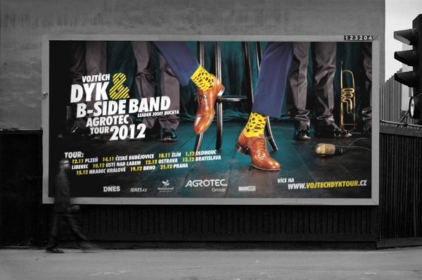 Vojtěch Dyk & B-Side band tour campaign design by Jakub Zagar, via Behance