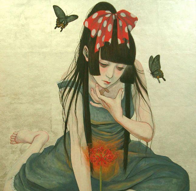 LOVE this painting by Akiko Ijichi