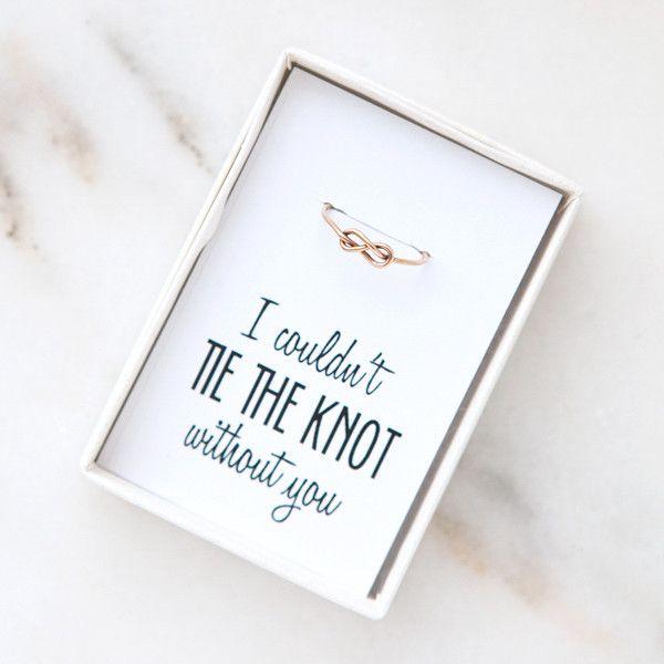 bridesmaid knot ring, bridesmaid proposals, bridesmaid gifts