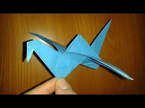 ▶ Origami: uccellino che vola (facile) - YouTube