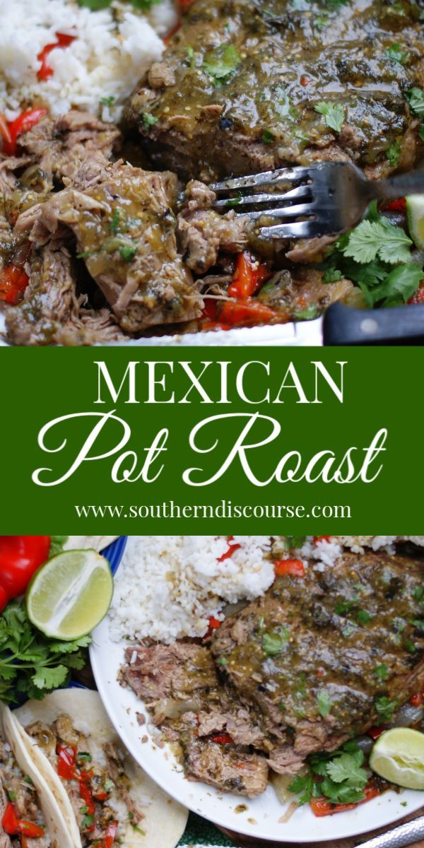 This easy recipe for melt in your mouth Mexican Pot Roast uses salsa verde to cr…   – Rezeptideen