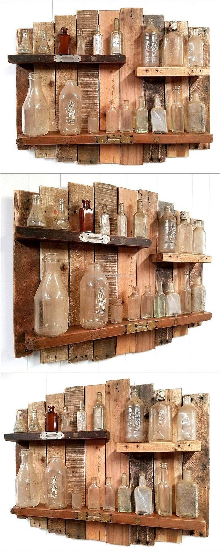 Some people think that the shelves are not for the rooms and they only look good when used in the kitchen, which is not true. This idea of creating the wood pallets rustic and vintage shelf is perfect for the room as well; it can be used for placing the decoration pieces.