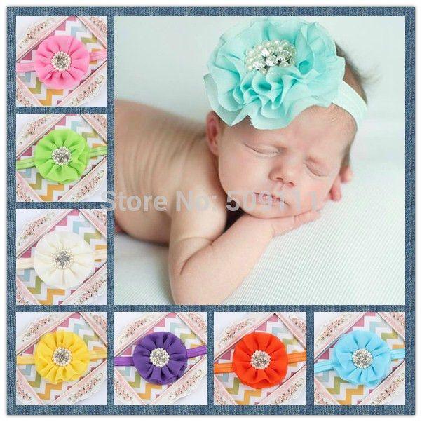 Детские аксессуары для волос Детские девушки головная повязка цветок детские кружева ободки для девочек цветок лента для волос 10 шт. HB282