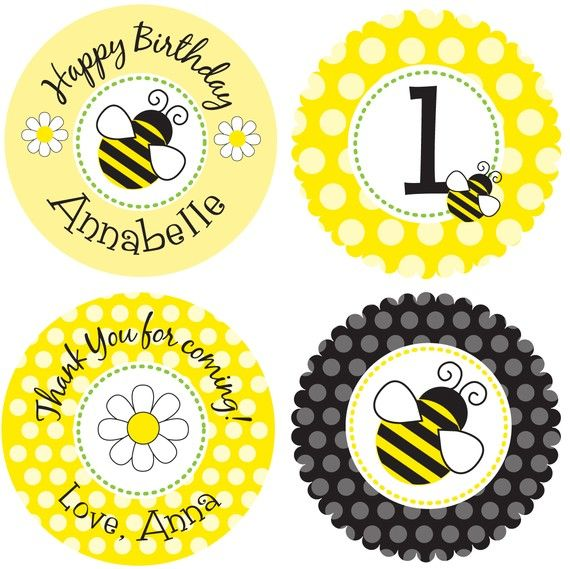 Itsy Belle's Event Printables  Printable Sweet Bumble Bee Party Circles