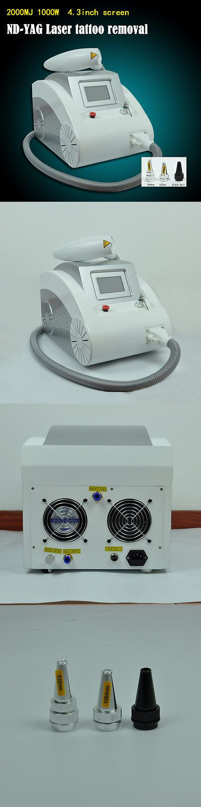 Tattoo Removal Machines: Professional Q-Switched Nd Yag Laser For Skin Tattoo Removal Machine New BUY IT NOW ONLY: $1553.0