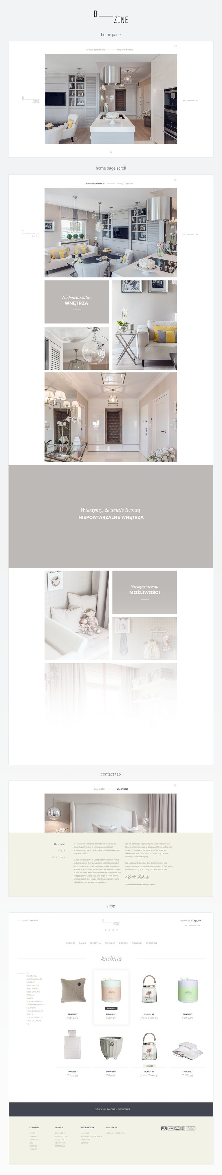 D_Zone - Interior designer website + shop