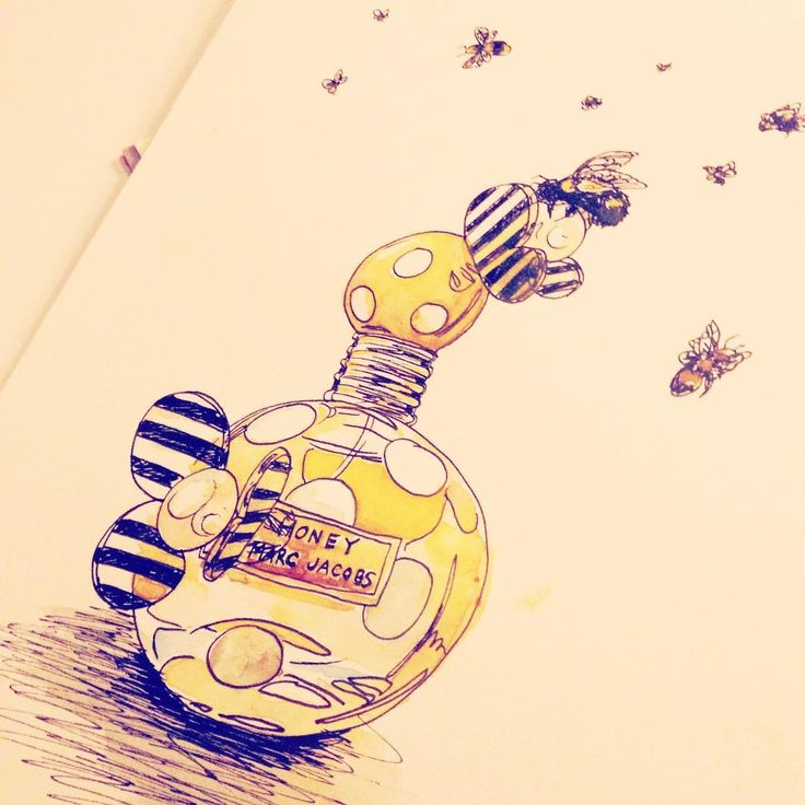 Marc Jacobs Honey Fragrance illustrated by Rebecca Feneley