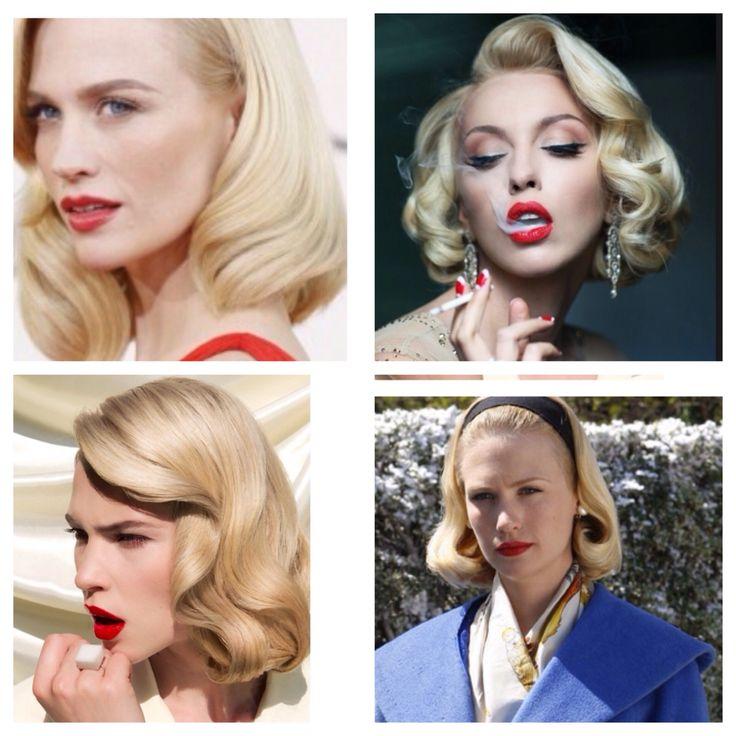 Honey blonde vintage hair