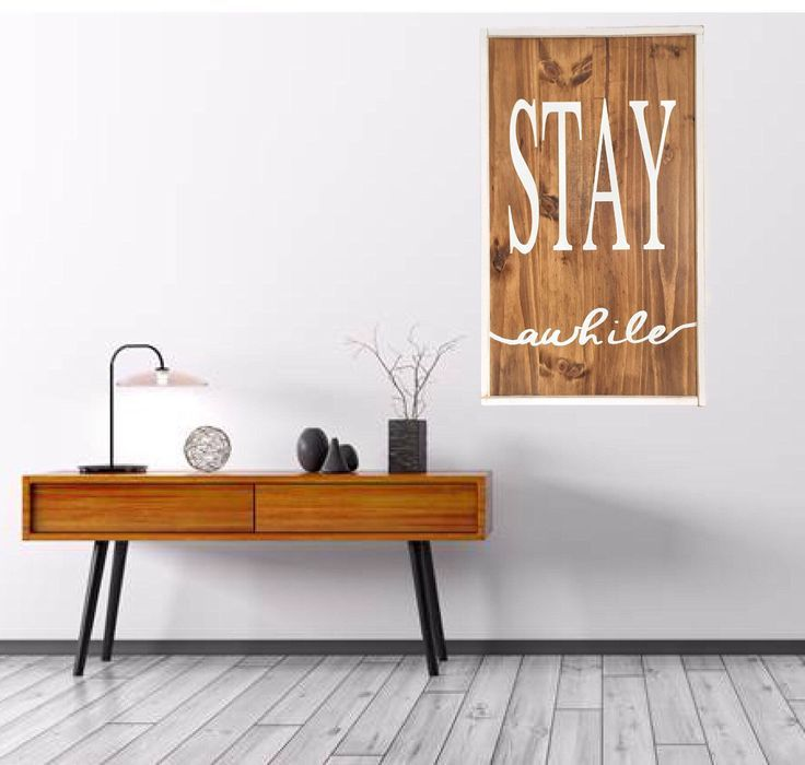 Excited to share the latest addition to my #etsy shop: FREE SHIPPING -  Stay Awhile Reclaimed Wood Farmhouse Sign Wall Art