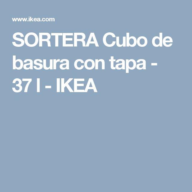 SORTERA Cubo de basura con tapa - 37 l - IKEA