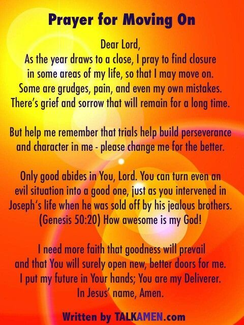 """A prayer for """"Moving On"""""""