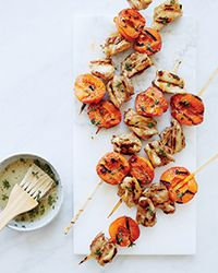 Honey-Thyme Chicken-and-Apricot Kebabs | Food & Wine