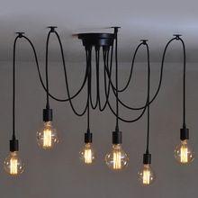 6 estilo de país do Vintage Industrial Edison lâmpada de teto pendente para interior decoração(China (Mainland))