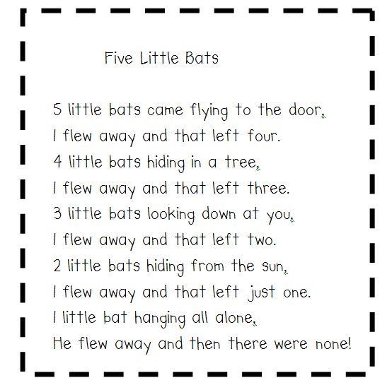 cute bat poem halloween - Cute Halloween Poem